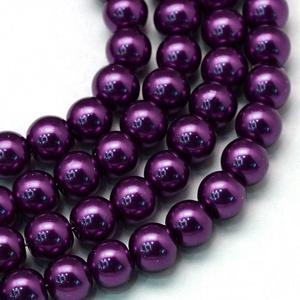 Viaszgyöngy-26 (Ø 10 mm/~ 40 db) - extra lila (csimbo) - Meska.hu