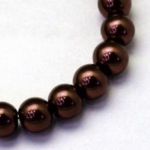 Viaszgyöngy-45 (Ø 10 mm/~ 40 db) - csokoládébarna (csimbo) - Meska.hu