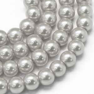 Viaszgyöngy-48 (Ø 10 mm/~ 40 db) - ezüst (csimbo) - Meska.hu
