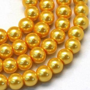 Viaszgyöngy-7 (Ø 10 mm/~ 40 db) - aranysárga (csimbo) - Meska.hu