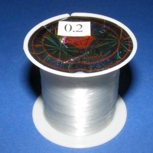 Damil (Ø 0,2 mm/1 db), Gyöngy, ékszerkellék, Ékszerkészítés,  Damil - színtelenKiváló minőségű, nagyon erős, fűzésre alkalmas damil.Mérete: Ø 0,2 mmA tekercsen ..., Alkotók boltja