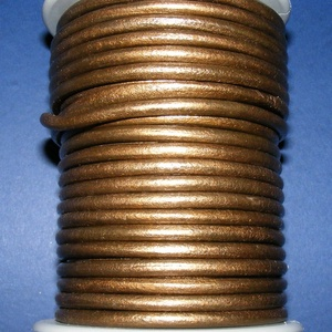 Hasított bőrszíj - 5 mm (5. minta/1 m) - bronz (metál) - vegyes alapanyag - egyéb alapanyag - Meska.hu