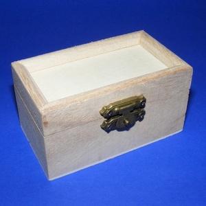 Mini fadoboz (9x5x4,5 cm/1 db) - peremes, Fa,  Mini fadoboz - peremes - szerelt  Mérete: 9x5x4,5 cmAnyaga: natúr fa, nem pácolt, nem kezelt    ..., Meska
