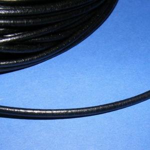 Hasított bőrszíj - 3 mm (1. minta/1 m) - fekete  (csimbo) - Meska.hu