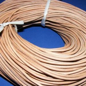 Hasított bőrszíj - 3 mm (3. minta/1 m) - natúr (csimbo) - Meska.hu