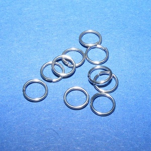 Nemesacél szerelőkarika (STAS-11 minta/10 db) - 5 mm, Gyöngy, ékszerkellék, Ékszerkészítés, \nNemesacél szerelőkarika - STAS-11 - szimplaNemesacél (304 Stainless Steel) termék\n\nMérete:  5x0,6 ..., Meska