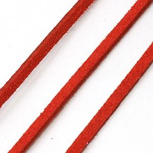 Szarvasbőr utánzat-7 (3x1,5 mm/1 m) - piros (csimbo) - Meska.hu