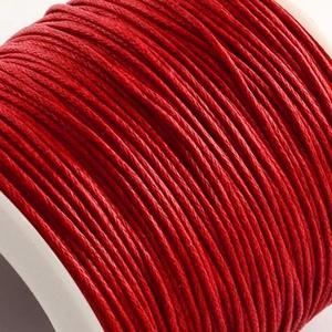 Viaszos pamutzsinór - 1 mm (1. minta/1 m) - piros, Gyöngy, ékszerkellék, Ékszerkészítés,  Viaszos pamutzsinór (1. minta) - piros  Nyakbavaló alap, karkötő alap alapanyaga. Fonáshoz, de bár..., Alkotók boltja