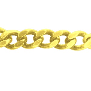Arany színű lánc (53. minta/115 c m) - 18x14x3,5 mm (csimbo) - Meska.hu