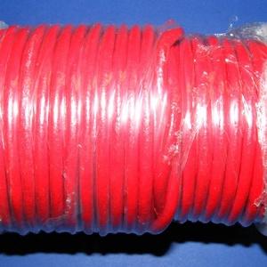 Hasított bőrszíj - 5 mm (2. minta/25 m) - piros, Egyéb alapanyag, Vegyes alapanyag, Bőrművesség, \nHasított bőrszíj (2. minta) - tekercses - piros\n\nMérete: 5 mm átmérőjűValódi hasított marhabőrből k..., Meska