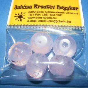 �sványgyöngy-125 (Ø 16 mm/5 db) - átlátszó/halvány rózsaszín gömb (csimbo) - Meska.hu