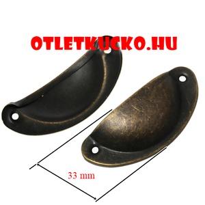 Fém fogantyú-12/B (1 db) - fekete (csimbo) - Meska.hu