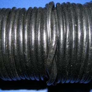 Hasított bőrszíj - 5 mm (1. minta/1 m) - fekete  (csimbo) - Meska.hu