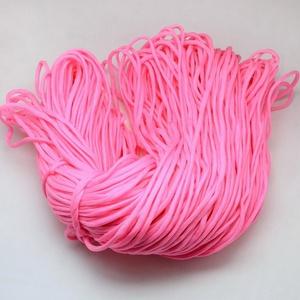 Paracord zsinór-7 (4-5 mm/1 m) - rózsaszín, Gyöngy, ékszerkellék, Ékszerkészítés, \nParacord zsinór-7 - rózsaszín\n\nAz év nagy slágere a paracord, ami nem csak divat, hanem kifejező es..., Meska