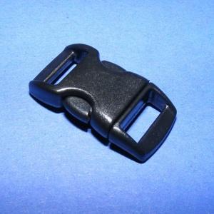 Műanyag kapocs-9 (10 mm/1 db) - fekete, Gyöngy, ékszerkellék, Ékszerkészítés,  Műanyag kapocs-9 - feketekarkötő méret  Mérete összezárva: 29x15 mmA befűzhető rés mérete: 10x3 mm..., Alkotók boltja