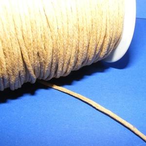 Viaszos pamutzsinór - 1,5-2 mm (ZS03. minta/1 m) - mustársárga - gyöngy, ékszerkellék - Meska.hu
