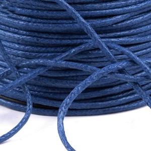 Viaszos pamutzsinór - 1,5-2 mm (ZS06. minta/1 m) - kék, Gyöngy, ékszerkellék,  Viaszos pamutzsinór (ZS06. minta) - kék  Nyakbavaló alap, karkötő alap alapanyaga. Fonáshoz, de bár..., Meska