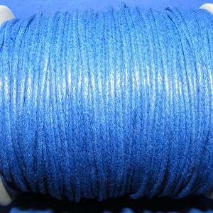 Viaszos pamutzsinór - 1,5-2 mm (ZS06. minta/1 m) - kék (csimbo) - Meska.hu