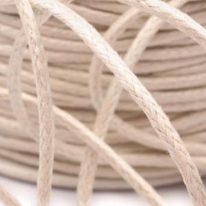 Viaszos pamutzsinór - 1,5-2 mm (ZS07. minta/1 m) - törtfehér, Gyöngy, ékszerkellék,  Viaszos pamutzsinór (ZS07. minta) - törtfehér  Nyakbavaló alap, karkötő alap alapanyaga. Fonáshoz, ..., Meska