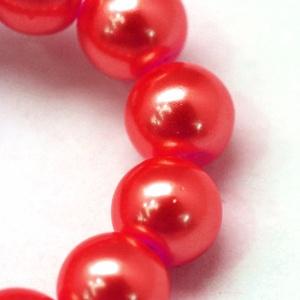 Viaszgyöngy-2 (Ø 10 mm/~ 40 db) - piros (csimbo) - Meska.hu