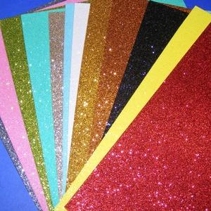 Glitteres dekorgumi (A/4 méret/1 db) - arany - vegyes alapanyag - Meska.hu