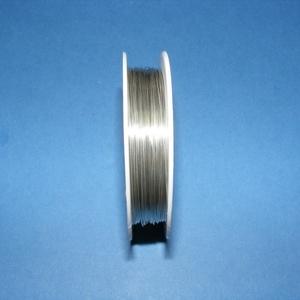 Ékszerdrót (Ø 0,6 mm/1 db) - ezüst színű, Drót, Fűzőszál, Ékszerdrót - ezüst színűKiváló minőségű, fűzésre alkalmas ékszerdrót.Méret: Ø 0,6 mmA tekercsen kb...., Alkotók boltja