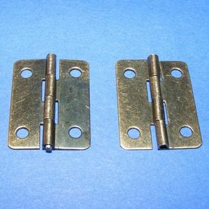 Zsanér (4. minta/1 db) - 25x18 mm, Csat, karika, zár, Mindenmás, \n\nZsanér (4. minta) - antik bronz színben\n\nA zsanér mérete: 25x18 mmA furat mérete: 3 mm\n\nAz ár egy ..., Meska