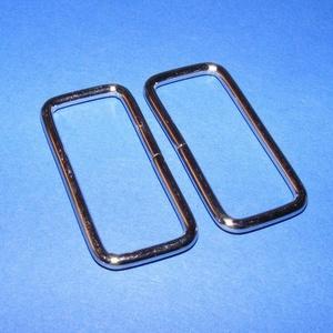 Szögletes bújtató (471. minta/1 db) - 16x39 mm, Csat, karika, zár, Mindenmás, \nSzögletes bújtató (471. minta) - nikkel színben\n\nBelső méret: 16x39 mmKülső méret: 45x22 mm\n\nAz ár ..., Meska