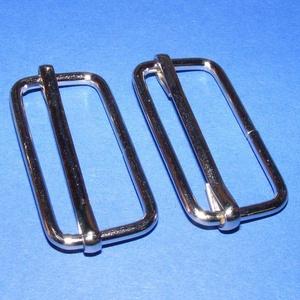 Fém mozgócsúszó (470. minta/1 db) - 40 mm, Csat, karika, zár, Mindenmás,  Fém mozgócsúszó (470. minta) - nikkel színben  Belső méret: 17x40 mmKülső méret: 21x44 mmAz ár egy..., Alkotók boltja