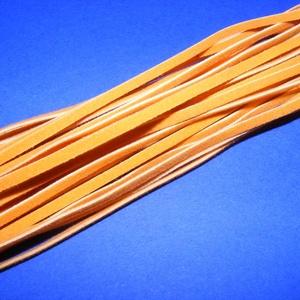 Bőrszíj - 3x1 mm (102. minta/1 db) - napsárga, Egyéb alapanyag,  Bőrszíj (102. minta) - napsárgaValódi, puha hasított marhabőrből készült.Nyaklánc alapokhoz és foná..., Meska