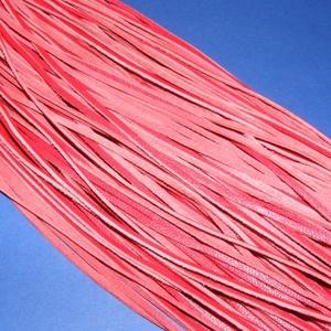 Bőrszíj - 3x1 mm (91. minta/1 db) - piros  (csimbo) - Meska.hu