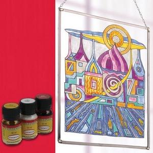 Üvegfesték (30 ml) - piros, Üvegfesték, Festékek,  Üvegfesték (30 ml) - piros  Az áttetsző üvegfesték gyanta alapú, oldószere a terpentin. Gyúlékony,..., Alkotók boltja
