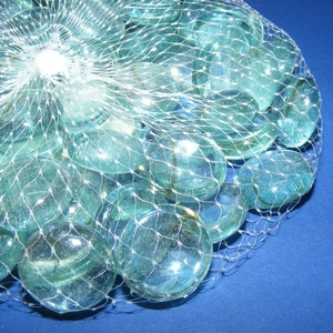 Üvegkavics-5 (300 g) - zöldeskék (csimbo) - Meska.hu