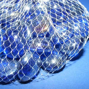 Üvegkavics-3 (300 g) - csillogó kék (csimbo) - Meska.hu