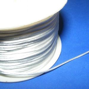 Szatén zsinór - 1 mm (ZS153. minta/1 m) - fehér (csimbo) - Meska.hu