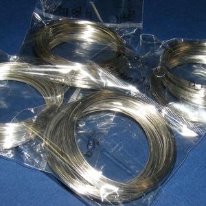 Memóriadrót - karkötő alap (Ø 60 mm/50 g) - platinum (csimbo) - Meska.hu
