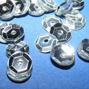 Flitter-3 (3 g/csomag) - ezüst (kerek), Gyöngy, ékszerkellék, Varrás, \nFlitter-3 - ezüst - kerek\n\nMérete: Ø 6-7 mmA furat mérete: 1 mm\n\nKiszerelés: 3 g (kb. 210 db)\nTöbb..., Meska