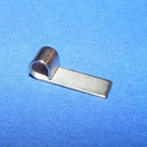 Nemesacél Medálrögzítő (STAS-74/1 db), Gyöngy, ékszerkellék, Ékszerkészítés, \nNemesacél Medálrögzítő (STAS-73/1 db) - ragasztható - platinum színben\n\nMérete: 14x4 mmA lyuk átmér..., Meska