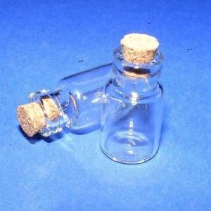 Üveg dugóval (3. minta/1 db) - 15x22 mm - gyöngy, ékszerkellék - Meska.hu