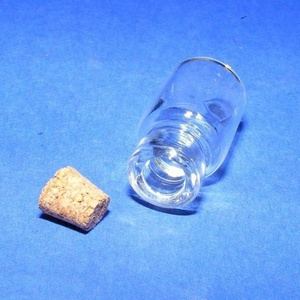 Üveg dugóval (4. minta/1 db) - 16x35 mm - gyöngy, ékszerkellék - Meska.hu