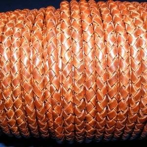Fonott bőrszíj - 5 mm (8. minta/0,5 m) - antik barna, Egyéb alapanyag, Bőrművesség, \nFonott bőrszíj (8. minta) - antik barnaValódi bőr alapanyagból készült fonott, hengeres szíj.Átmérő..., Meska