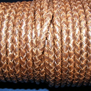 Fonott bőrszíj - 5 mm (9. minta/0,5 m) - antik sötétbarna, Egyéb alapanyag,  Fonott bőrszíj (9. minta) - antik sötétbarnaValódi bőr alapanyagból készült fonott, hengeres szíj.Á..., Meska