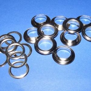 Fém ringli (Ø 12 mm/1 pár) - platinum, Csat, karika, zár, Mindenmás,    Fém ringli - platinum színben  A csomag tartalma: 1 pár platinum színű fém ringli (egy ringli 2 ..., Alkotók boltja