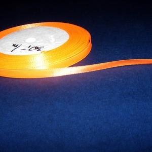 Szaténszalag (101. minta/1 m) - neon narancssárga (csimbo) - Meska.hu