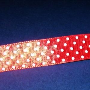 Szaténszalag (57. minta/1 m) - piros pöttyös (csimbo) - Meska.hu