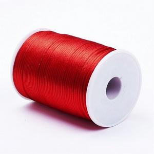 """Szatén zsinór - 2 mm (ZS22. minta/1 m) - piros, Gyöngy, ékszerkellék,  Szatén zsinór - más néven """"patkányfarok"""" (ZS22. minta) - piros  Kiválóan alkalmas fonási technikákh..., Meska"""