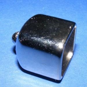 Felületkezelt műanyag bőrvég-20 (17x17x25 mm/1 db) - kocka zárókupak (csimbo) - Meska.hu