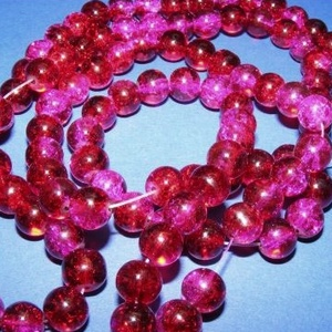Robbantott üveggyöngy-18 (8 mm/1 csomag) - rubin/pink (csimbo) - Meska.hu