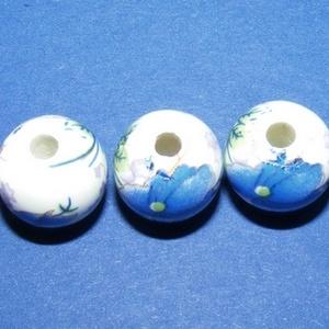 Porcelángyöngy-10 (Ø 12 mm/5 db) (csimbo) - Meska.hu
