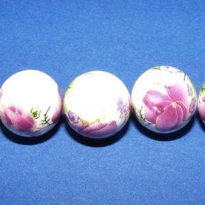Porcelángyöngy-11 (Ø 12 mm/5 db) (csimbo) - Meska.hu
